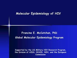 Molecular Epidemiology of HIV