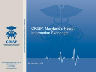 CRISP: Maryland's Health Information Exchange