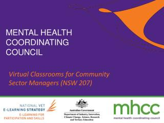 Virtual Classrooms for Community Sector Managers (NSW 207)