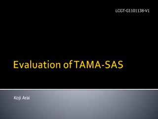 Evaluation of TAMA-SAS