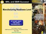 MRL and SBIR Success