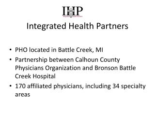 Integrated Health Partners
