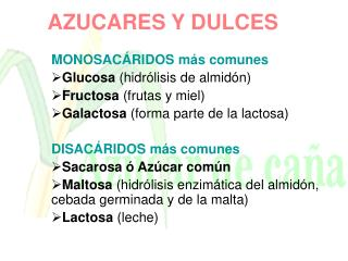 AZUCARES Y DULCES