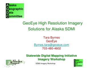 SDMI Imagery Workshop