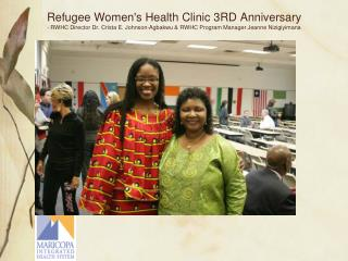 RWHC Program Manager Jeanne Nizigiyimana