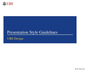 Presentation Style Guidelines