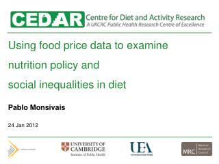 Using food price data to examine  nutrition policy and  social inequalities in diet