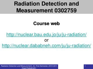 Course web nuclear.bau.jo/ju/ju-radiation/ or
