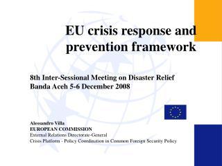 EU crisis response and prevention framework