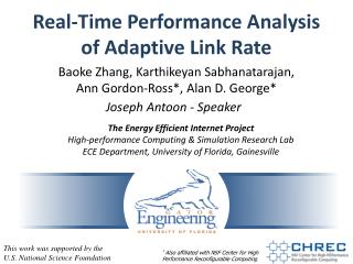 Real-Time Performance Analysis of Adaptive Link Rate