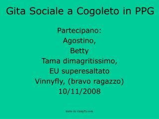 Gita Sociale a Cogoleto in PPG