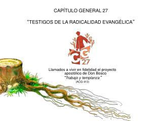 """CAPÍTULO GENERAL 27 """" TESTIGOS DE LA RADICALIDAD EVANGÉLICA """""""