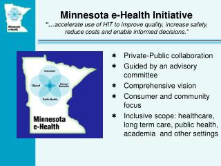 Private-Public collaboration  Guided by an advisory committee Comprehensive vision