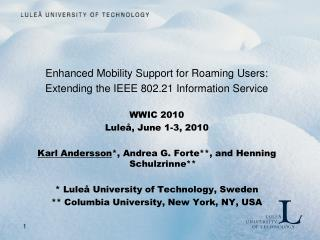 Enhanced Mobility Support for Roaming Users: Extending the IEEE 802.21 Information Service