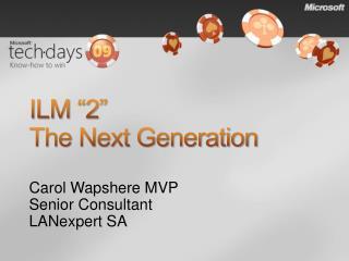 ILM �2� The Next Generation