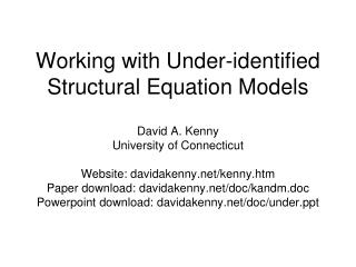 Working with Under-identified Structural Equation Models