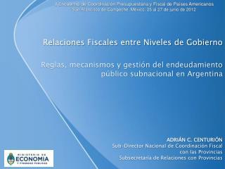 Relaciones Fiscales entre Niveles de Gobierno