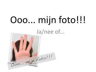 Ooo... mijn foto!!!