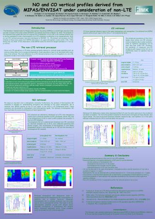 NO and CO vertical profiles derived from MIPAS/ENVISAT under consideration of non-LTE