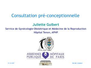Consultation pr -conceptionnelle