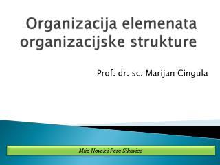 Organizacija elemenata organizacijske strukture