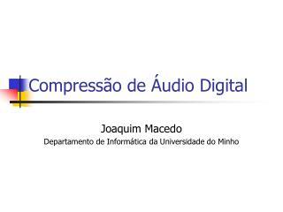 Compress o de  udio Digital