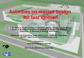 Activities on reactor design  for fast ignition