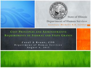State of Illinois  Department of Human Services Secretary Michelle R.B. Saddler