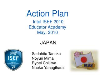 Action Plan Intel ISEF 2010 Educator Academy May, 2010