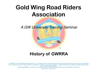 History of GWRRA