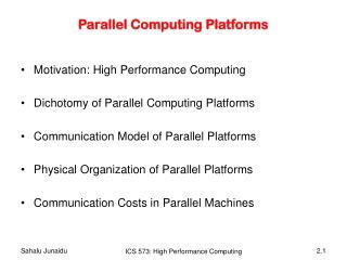 Parallel Computing Platforms