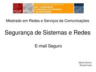 Segurança de Sistemas e Redes