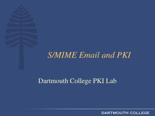 S/MIME Email and PKI
