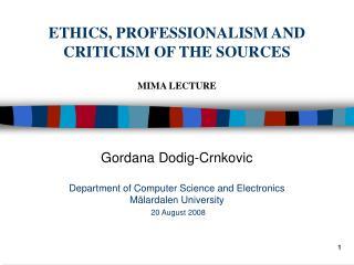 Gordana Dodig-Crnkovic