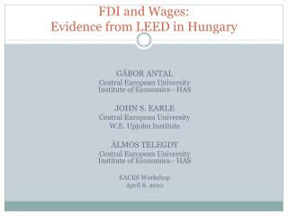 FDI and Wages: Evidence from LEED in Hungary