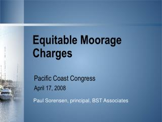 Equitable Moorage Charges