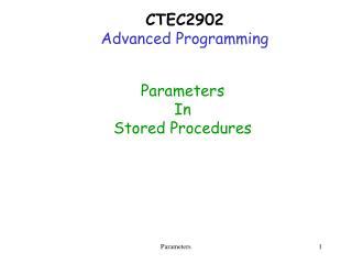 CTEC2902 Advanced Programming