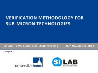 Verification Methodology for sub-micron Technologies