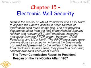 Chapter 15 – Electronic Mail Security