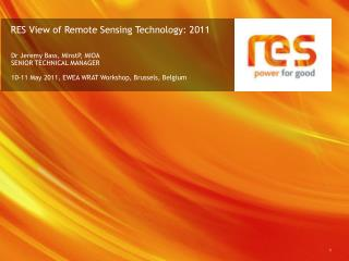RES View of Remote Sensing Technology: 2011