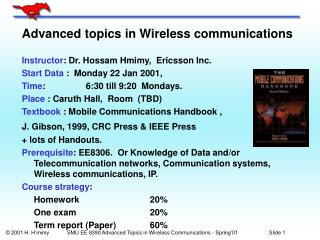 Advanced topics in Wireless communications