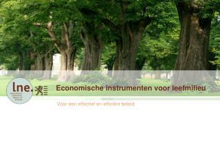 Economische instrumenten voor leefmilieu