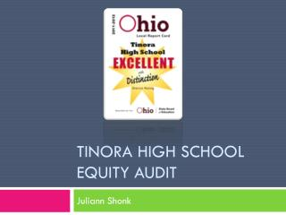 Tinora  High School  Equity Audit
