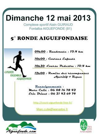 09h00 : Randonnée : 1O,4 km 10h00  : Courses Enfants 10h30 :Course Pédestre : 1O,4 km