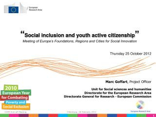 � Social inclusion and youth active citizenship �