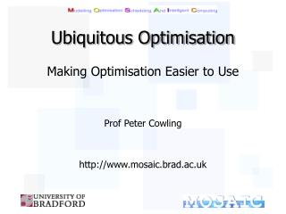 Ubiquitous Optimisation