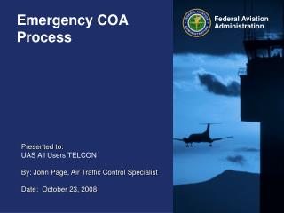Emergency COA Process
