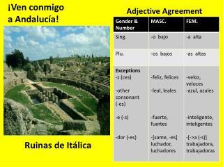 ¡ Ven  conmigo a  Andalucía !