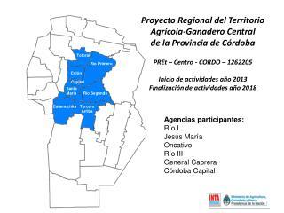 Proyecto Regional del Territorio  Agrícola-Ganadero Central  de la Provincia de Córdoba