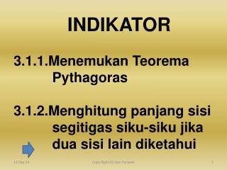 3.1.1.Menemukan Teorema                Pythagoras 3.1.2.Menghitung panjang sisi